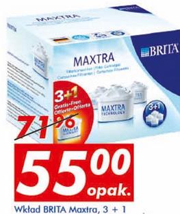Wkłady filtrujące Brita Maxtra 3+1 w cenie 55zł za zestaw w Auchan