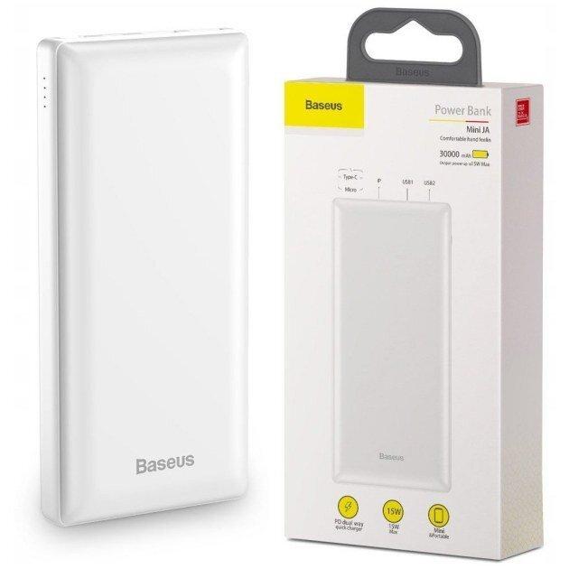 Power Bank Baseus 30000 mAh biały