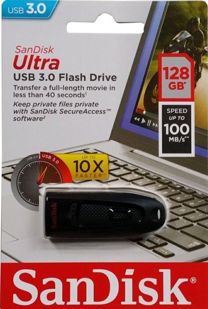Pendrive SANDISK Ultra USB 3.0 128 GB Czarny
