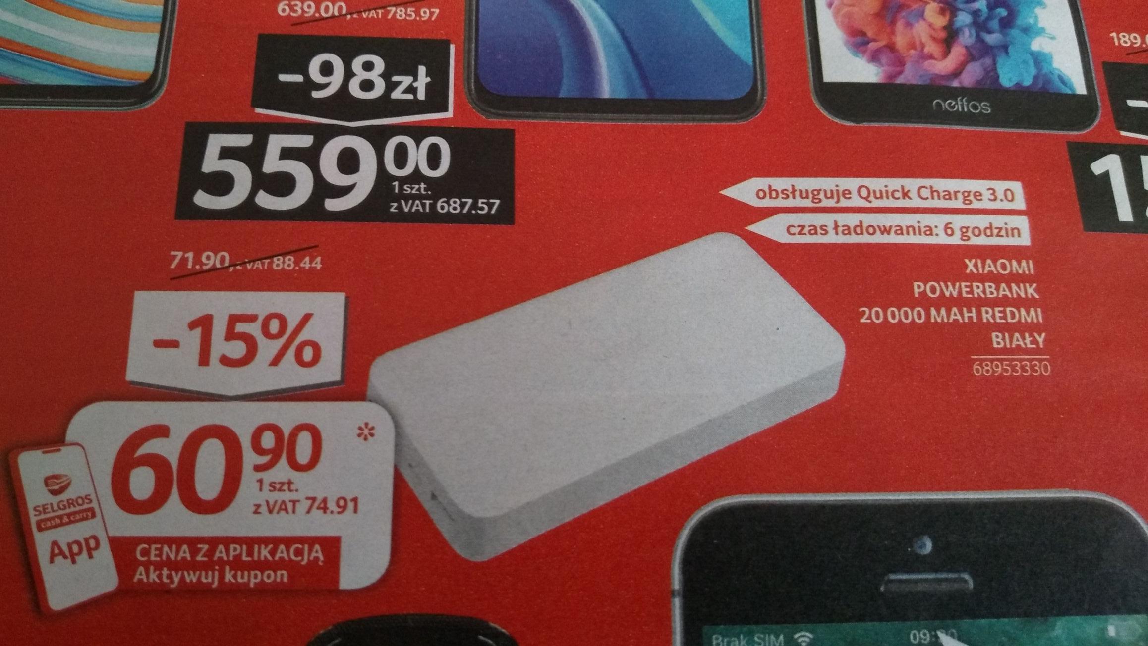 Xiaomi Redmi powerbank 20000 mAh w Selgros