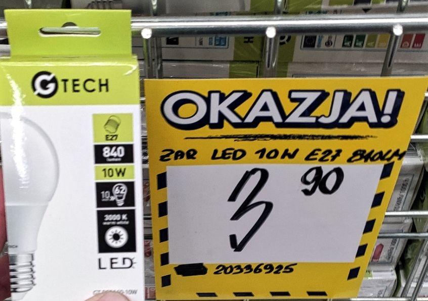 Bricoman - Żarówki LED 10W E27 840lm za 3.9 oraz 12W w trzypaku za 14.90