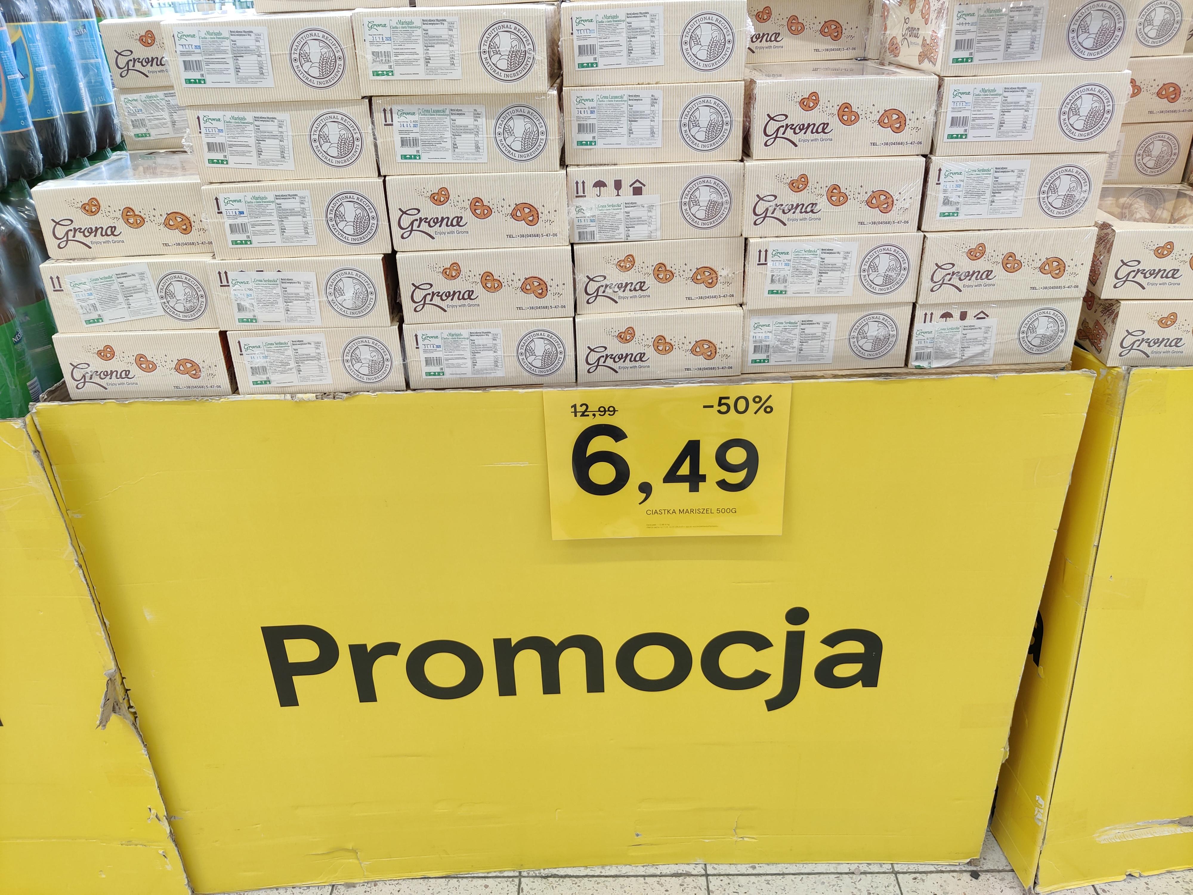 Ciastka Grona z Ciasta Francuskiego 400/500/700g Tesco (Łódź)