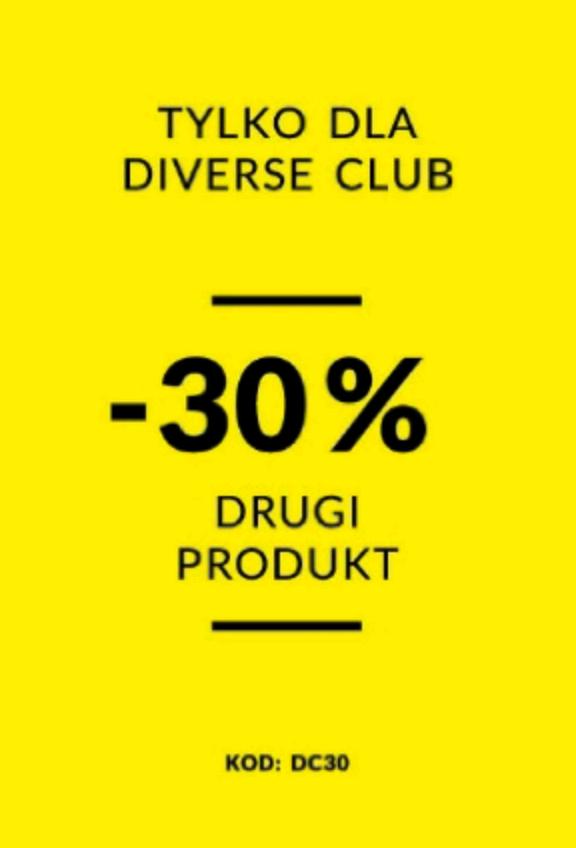 30% rabatu na drugi produkt @Diverse