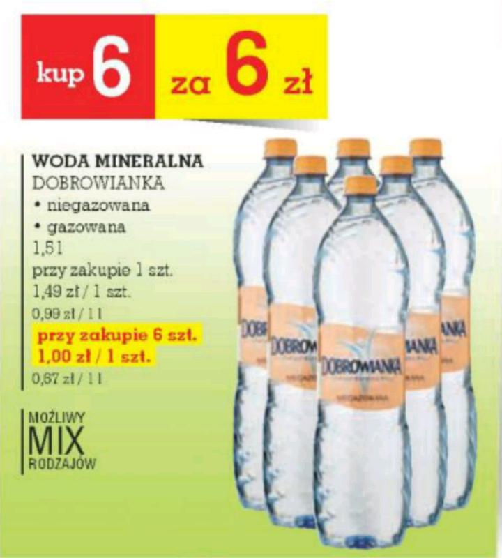 Woda mineralna Dobrowianka @Intermarche