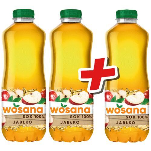 Sok Wosana jabłko 100% 1l (przy zakupie 3) w sklepie intermarche
