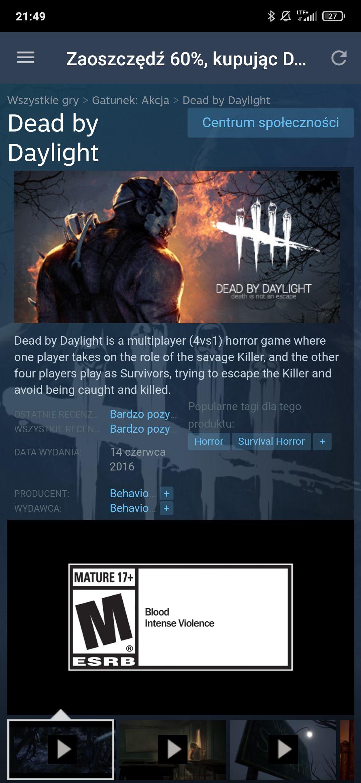 Dead by Daylight do wypróbowania do 13 września za darmo Steam