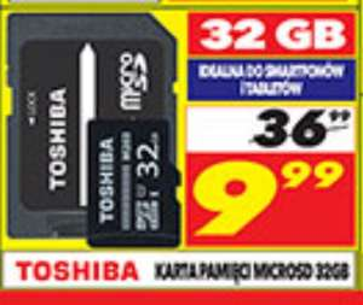 Karta pamięci Toshiba 32GB wGalerii Ken Center i Street Mall vis a vis-Wilanów, 10.września