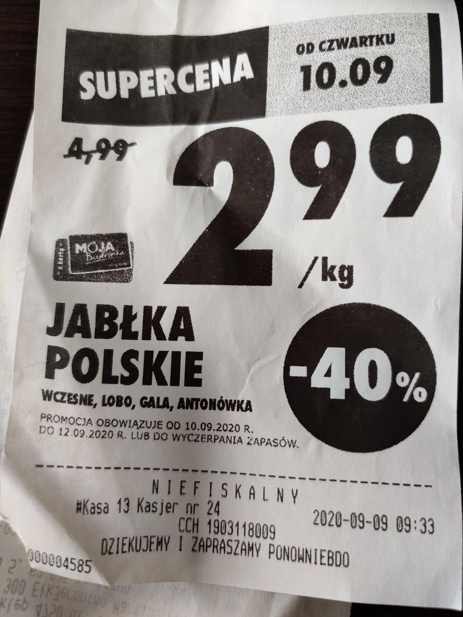 Jabłka polskie wczesne - Lobo, Gala, Antonówka