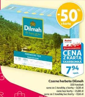 Herbata czarna Dilmah 100 torebek @Auchan