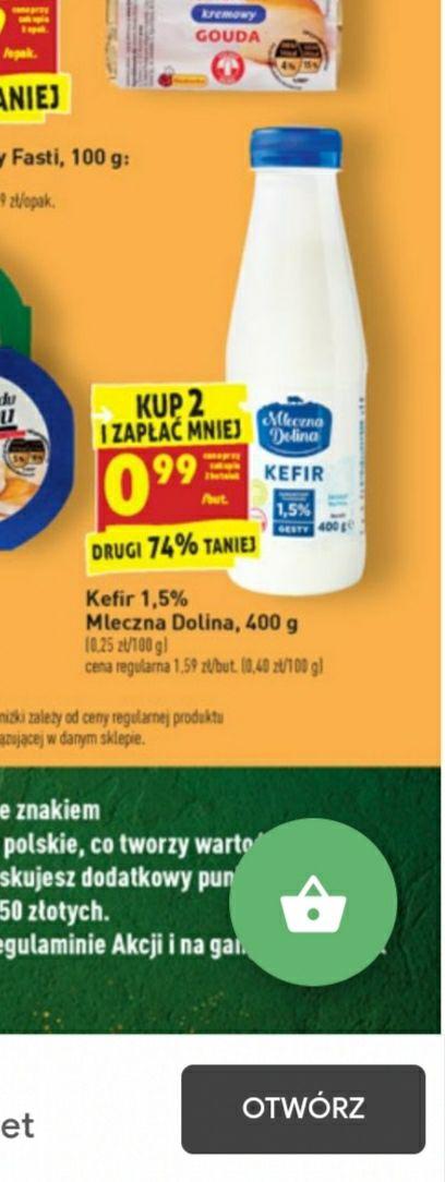 Kefir 1.5% mleczna dolina.