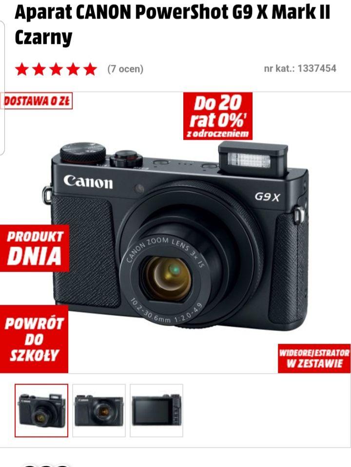 Aparat CANON PowerShot G9 X Mark II MEDIA MARKT