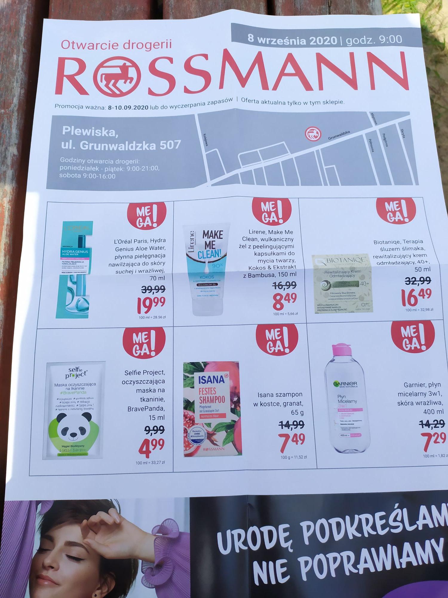 Otwarcie nowej drogerii Rossmann Plewiska, oferty -50%
