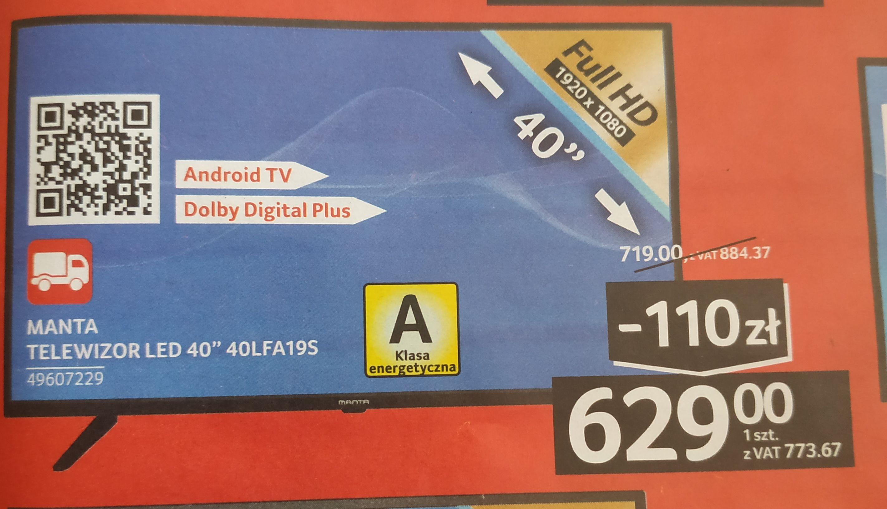 """Telewizor Smart TV Full HD Manta 40"""""""