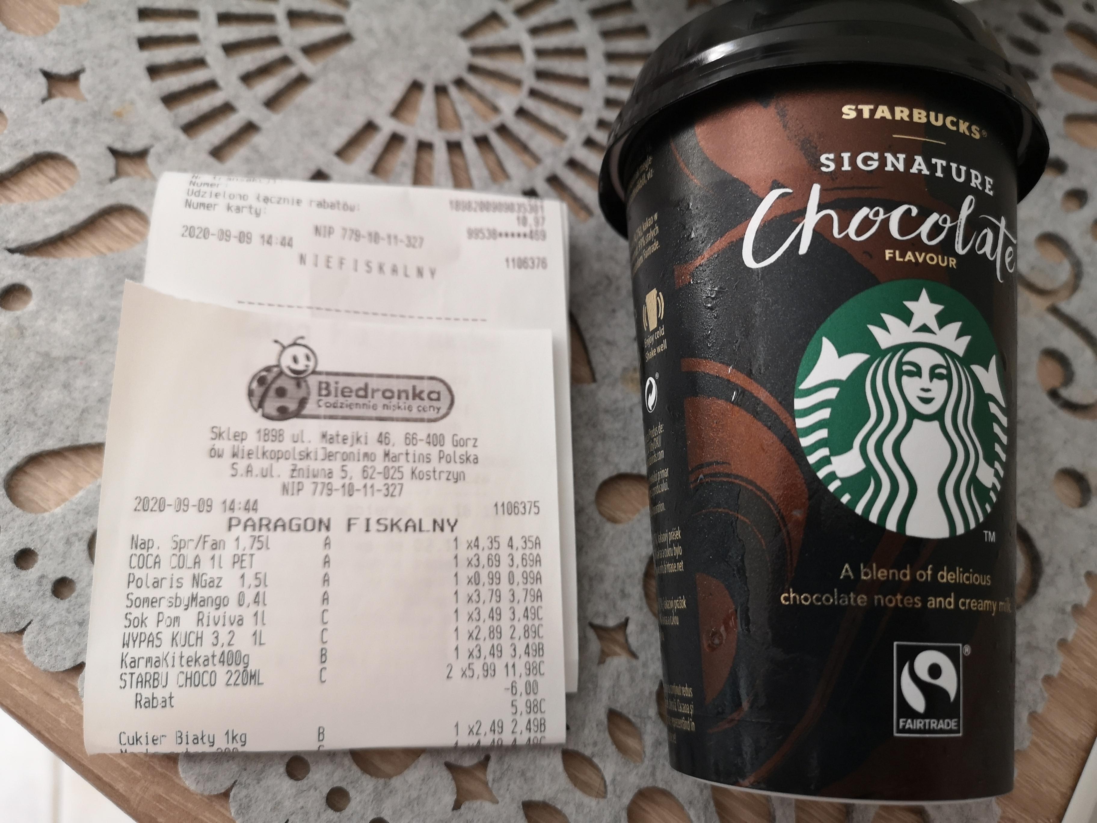 Starbucks Signature Chocolate 220 ml - mleczny napój o smaku kakaowym