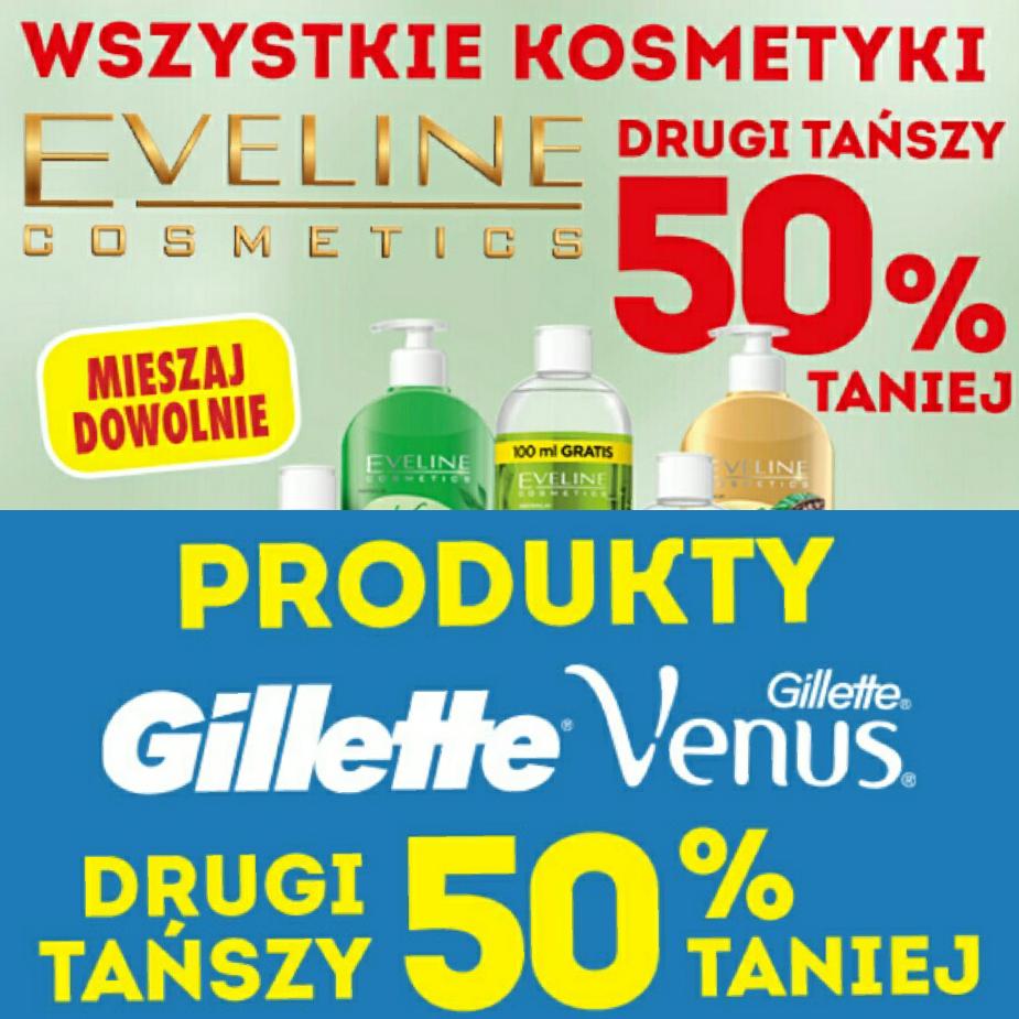 Biedronka- Gillette, Gillette Venus oraz Evelline - Drugi tańszy 50% taniej