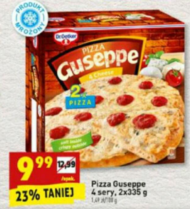 Pizza Guseppe 4 sery 335g 9.99zł za 2pack BIEDRONKA