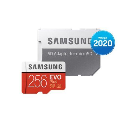 Karta pamięci SAMSUNG EVO Plus (2020) 256GB, odb.os 5 zł, paczkomat 9.9zł.