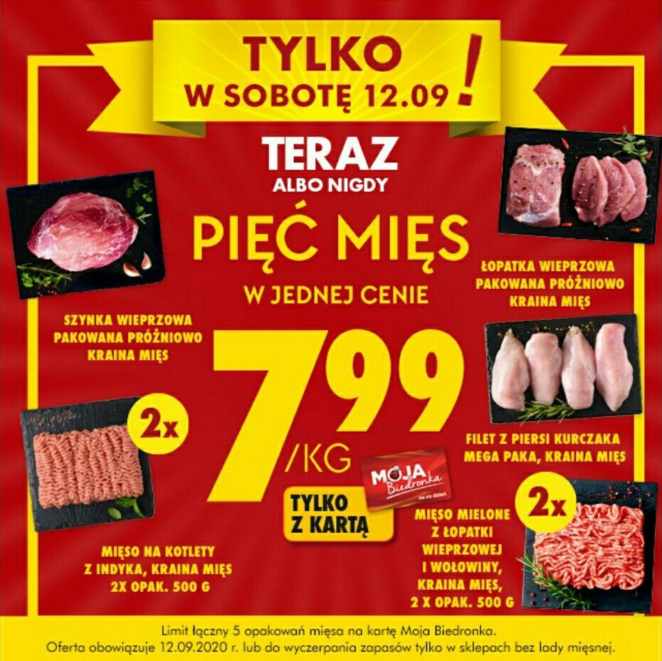 Biedronka, pięć mięs w cenie 7,99zł/kg
