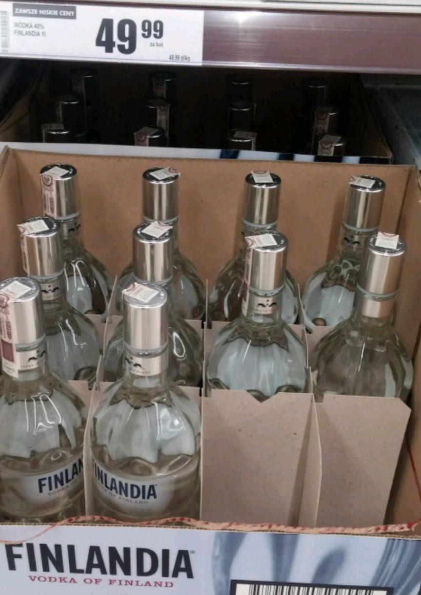 Wódka Finlandia 1l za 49,99zł w Biedronce
