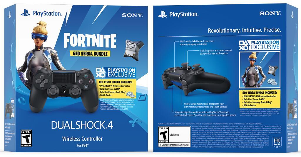 Dualshock 4 - V2 Fortnite Neo Versa Bundle