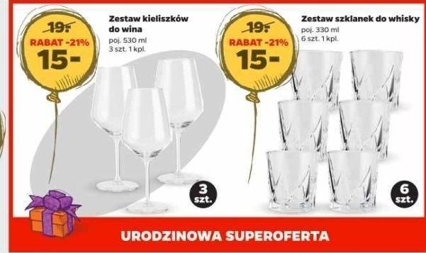 Zestaw eleganckich szklanek do whisky 330 ml 6 szt. lub zestaw kieliszków do wina 530 ml - Netto