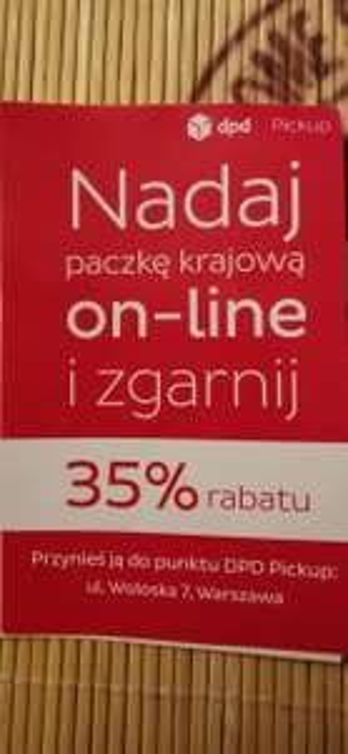 -35% DPD nadania online na wszystkie paczki krajowe