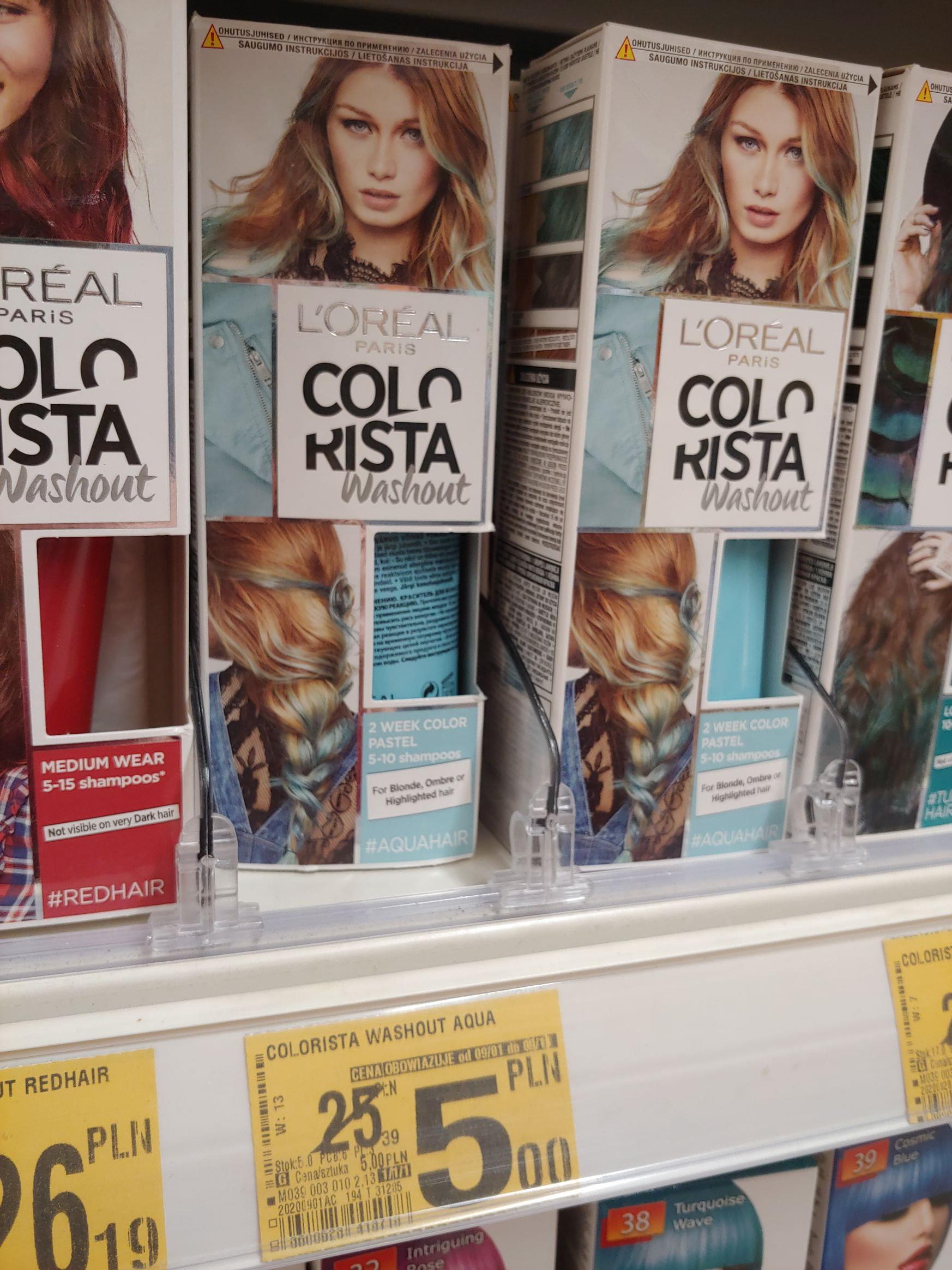 Colorista farba do włosów niebieska i żółta