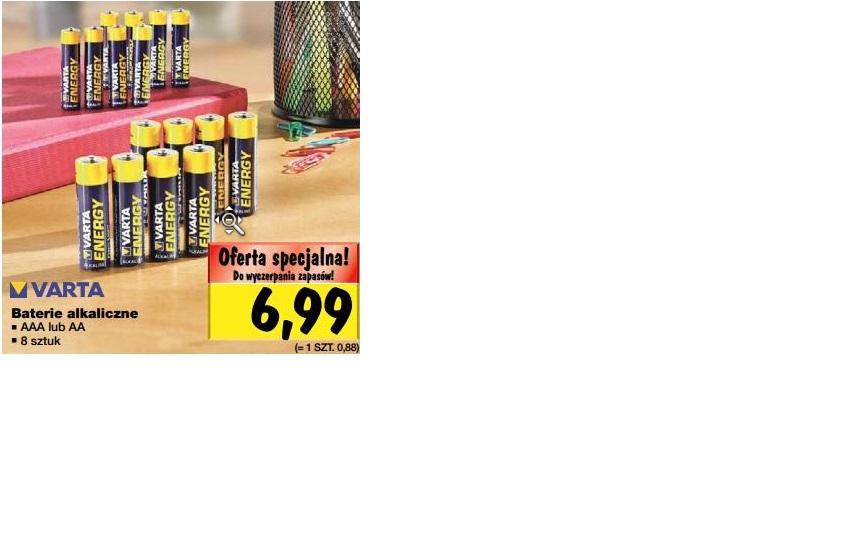 Baterie alkaiczne VARTA 8 sztuk za 6,99 zł @ Kaufland