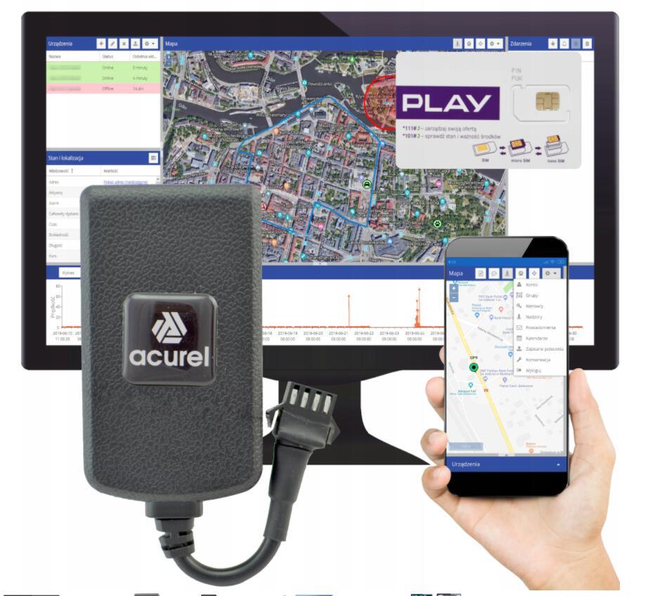Lokalizator GPS z Polską platformą do śledzenia online + aplikacja