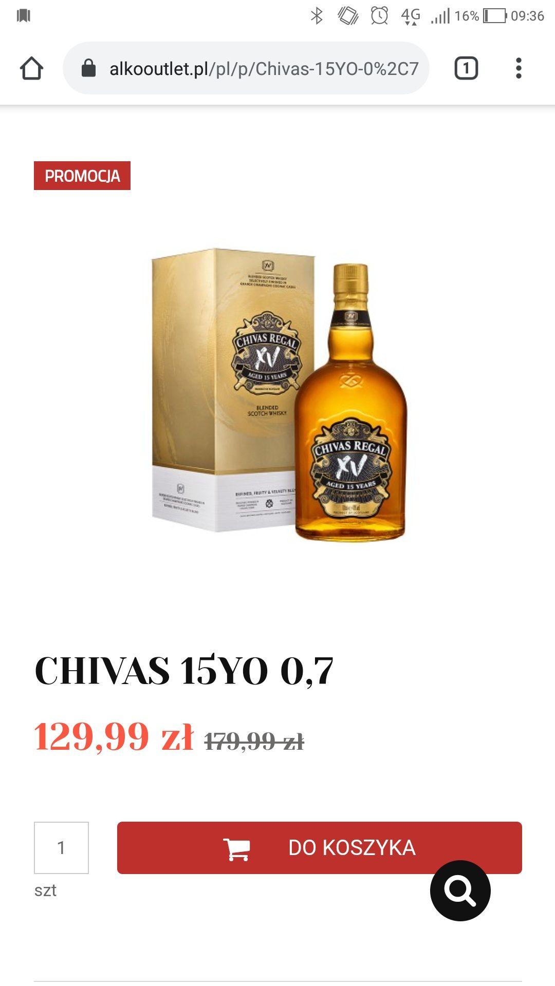 CHIVAS 15YO 0,7