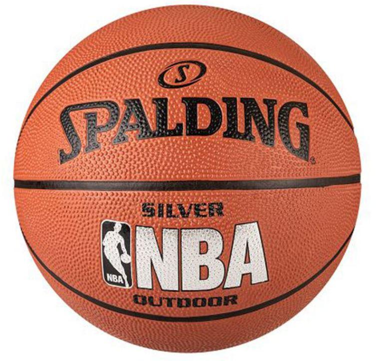 Piłka do koszykówki Spalding NBA Silver Outdoor r. 7