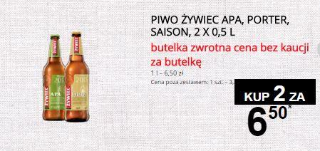2 butelki Żywiec APA, Saison, Porter za 6,50zł @ Żabka