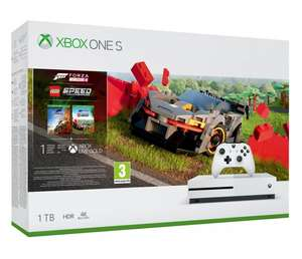 Konsola Xbox One S + Forza Horizon 4 + LEGO DLC + Seagate Expansion Portable 1TB USB 3.0