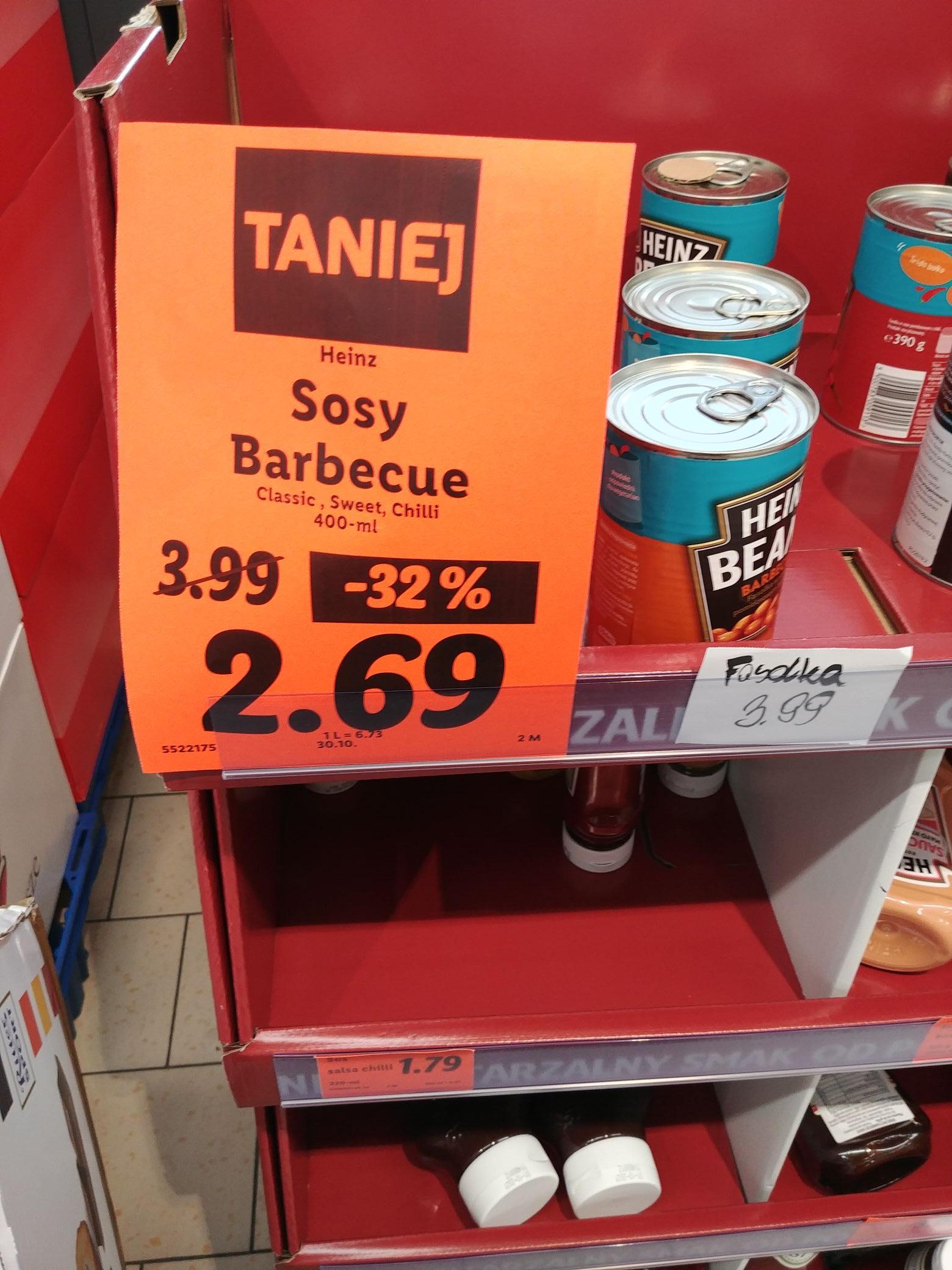 Sosy Heinz BBQ za 2.69 w Lidlu