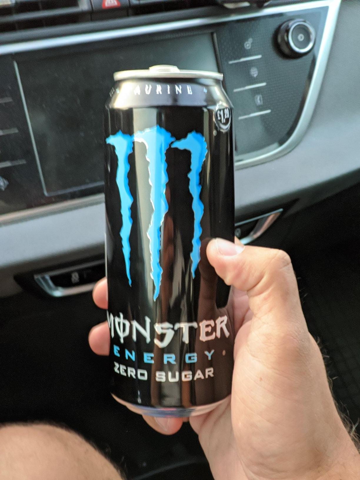 Napój Energetyczny Monster Zero Sugar Czarny