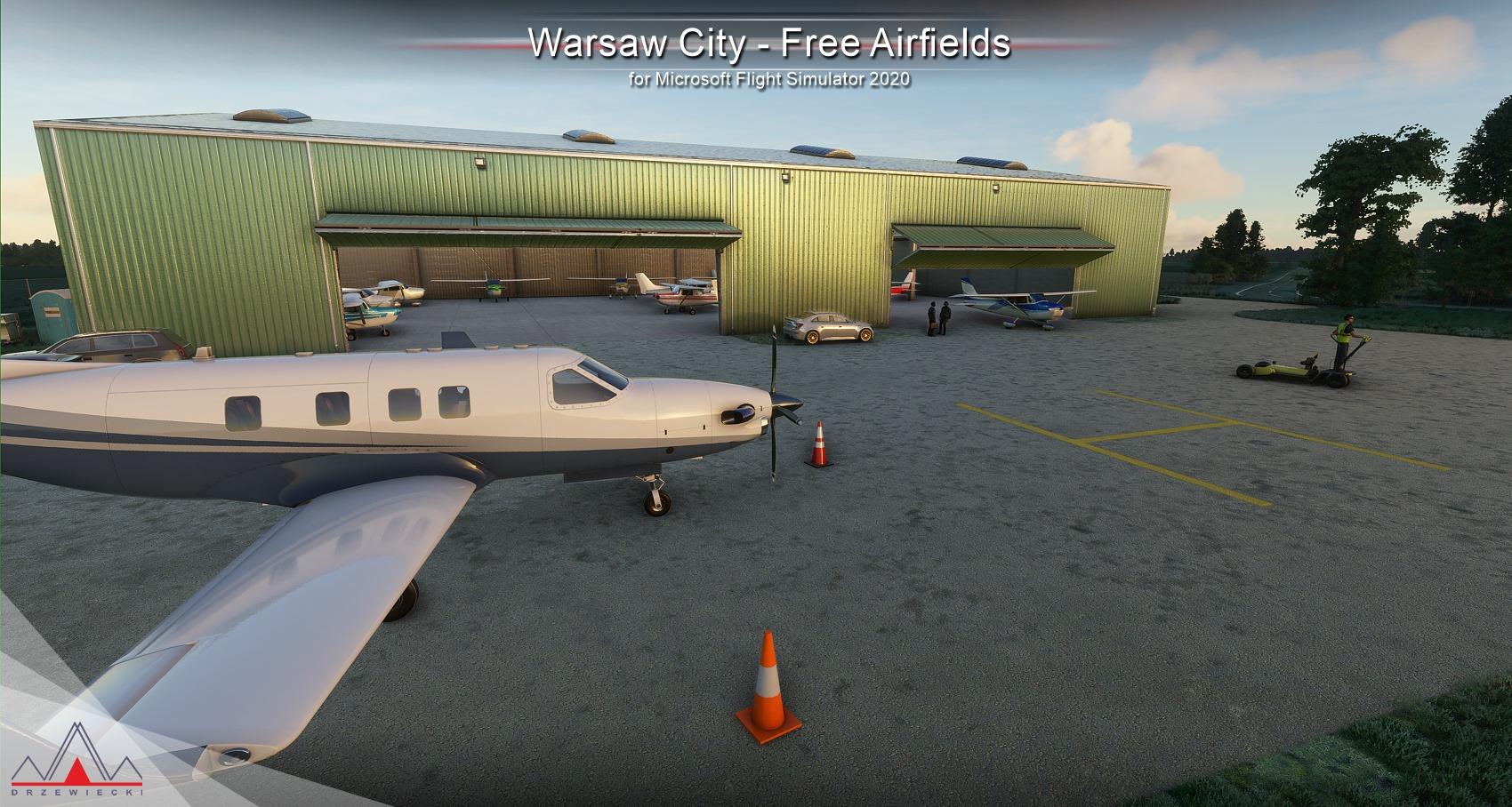 Microsoft Flight Simulator - DLC za darmo - WARSAW AIRFIELDS MSFS