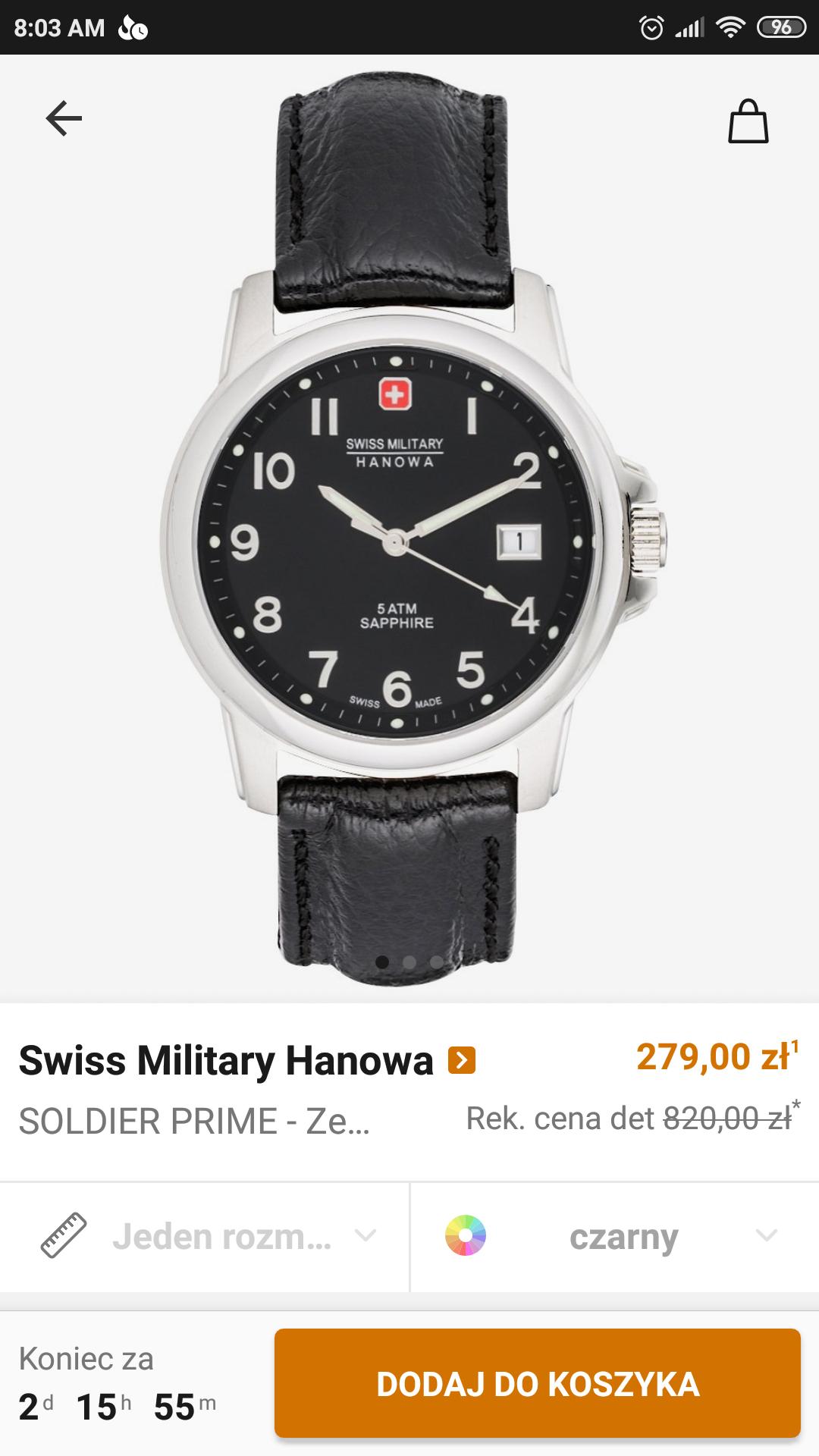 Zegarek Swiss Military Hanova Soldier Prime szafir