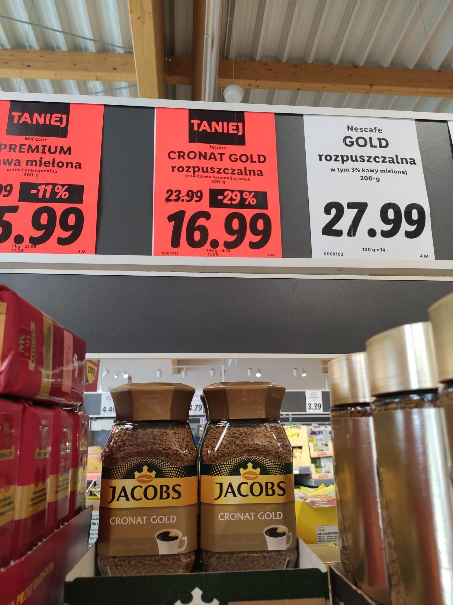 Jacobs Cronat Gold rozpuszczalna 200g @Lidl
