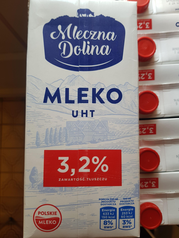 Mleko mleczna dolina UHT 3.2% 1l Biedronka