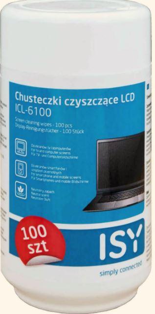 Chusteczki czyszczące do ekranów LED, LCD, 100szt, odbiór os. 0zł