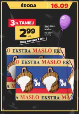 Masło Ekstra 200g przy zakupie 2 szt. @Netto