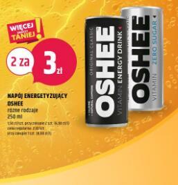 Energetyk Oshee 2 sztuki za 3zł