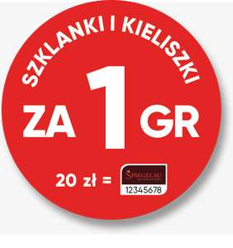 20 znaczków Stokrotki - szklanki i kieliszki za 1 gr