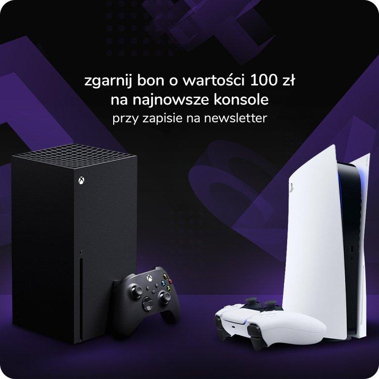 Zniżka 100zł na nowe konsole w x-kom.pl: XBOX lub PS5 - bon za zapisanie się do newslettera