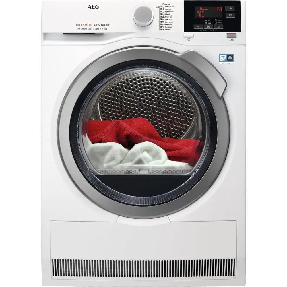 Suszarka AEG T8DBG48S, kondensacyjna z pompą ciepła, 8kg, A++, inverter, gratis ręczniki
