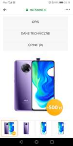 Pocophone F2 pro 8/256 DDR 5 RAM Tylko Electric purple