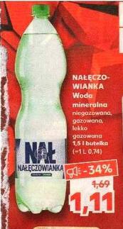 Woda mineralna Nałęczowianka 1,5L - Kaufland