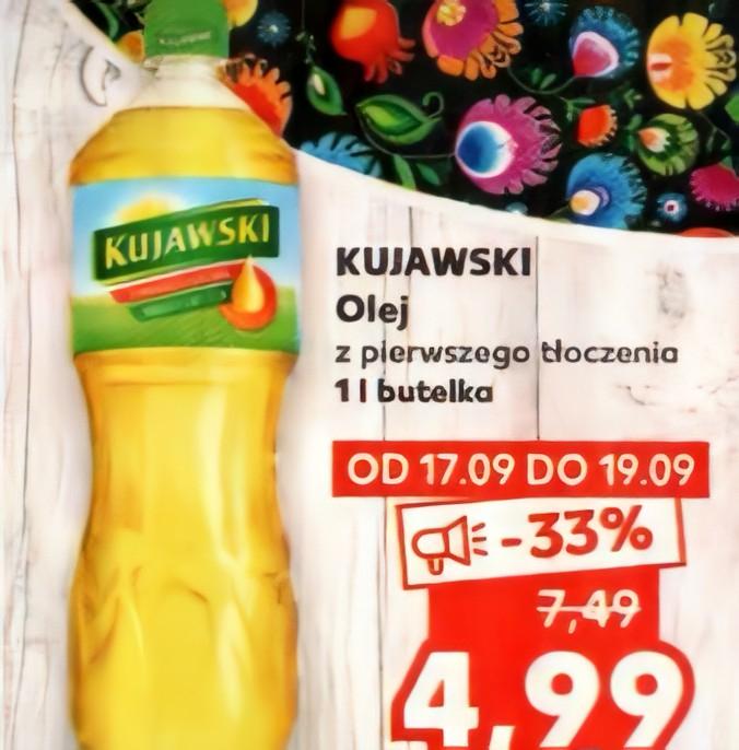 [Kaufland] Olej Kujawski 1L - 4.99 zł