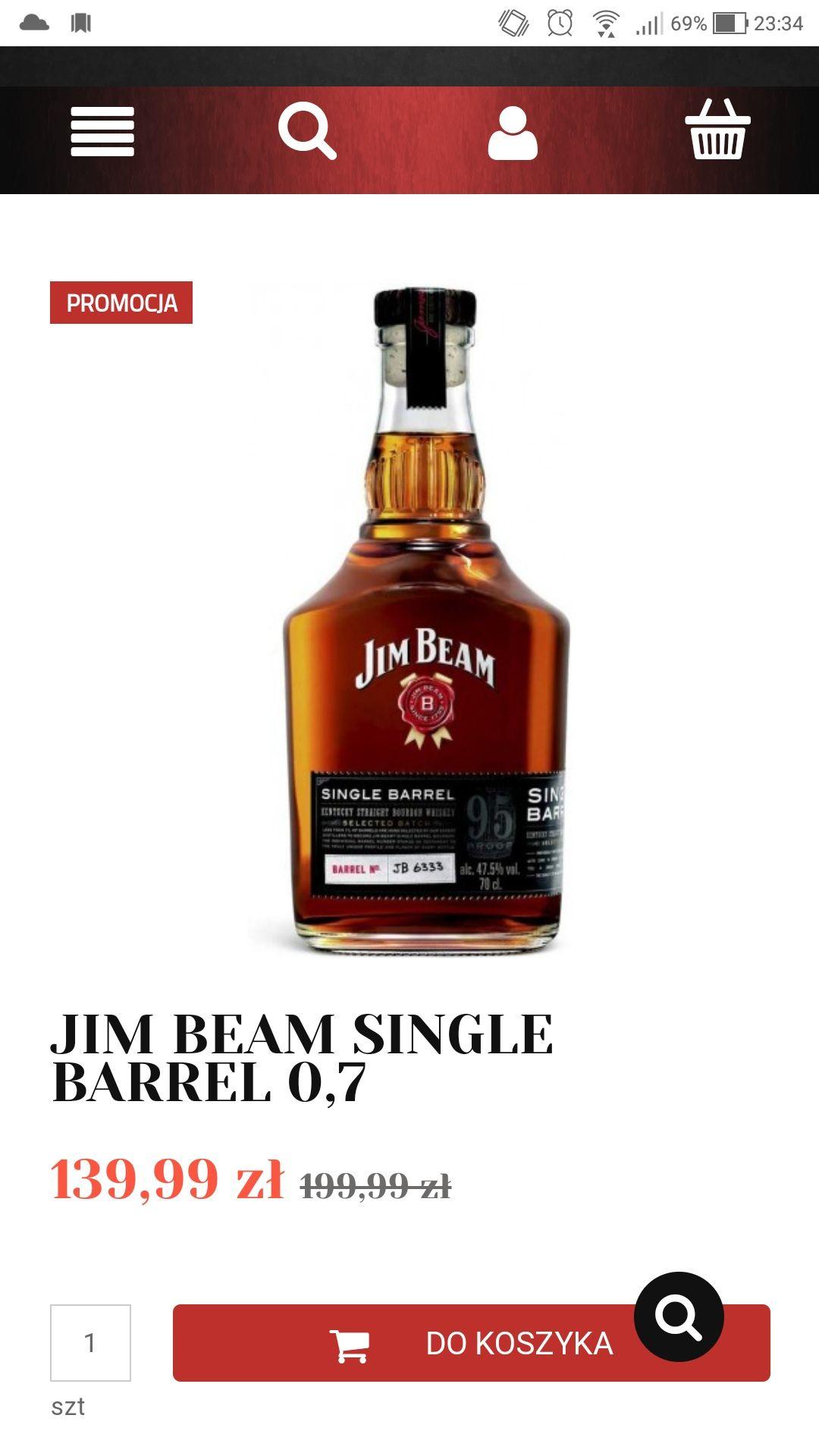 JIM BEAM SINGLE BARREL 0,7