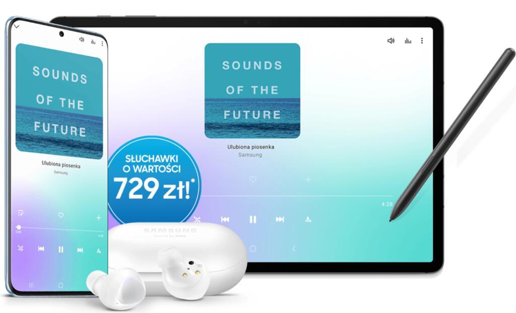 Gratisowe Słuchawki Buds+ do zakupu Samsung Galaxy S20 albo Galaxy Tab S7/s7+